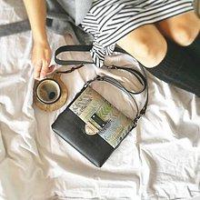 Kabelky - Kožená kabelka (ručne maľovaná Hmlisté ráno) - 9851102_