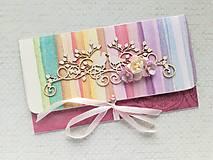 Papiernictvo - Svadobná obálka na peniaze - 9851951_