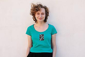 Tričká - úsmev spájajúci dva póly  (muži aj ženy: zelená, XS až XL) - 9853447_