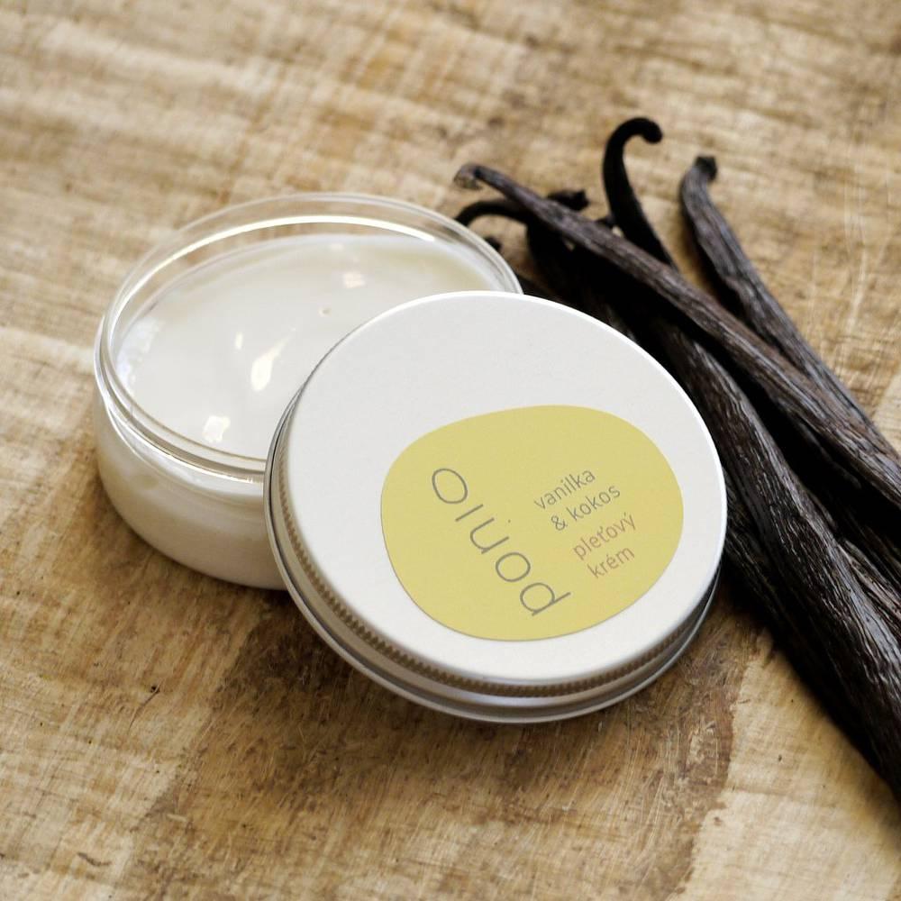 Vanilka & kokos - pleťový krém (obal plast + hliník)
