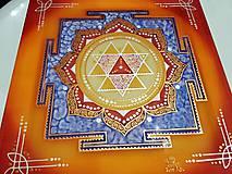 Obrazy - Durga Yantra / Mandala odvahy a víťazstva - 9852096_