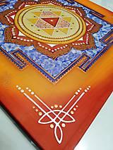 Obrazy - Durga Yantra / Mandala odvahy a víťazstva - 9852097_