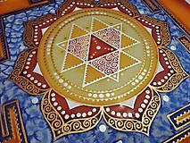 Obrazy - Durga Yantra / Mandala odvahy a víťazstva - 9852098_