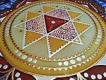 Obrazy - Durga Yantra / Mandala odvahy a víťazstva - 9852099_