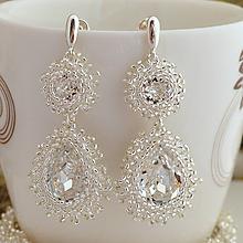 Náušnice - Diamond Bridal Crystal (Ag925) - 9853236_