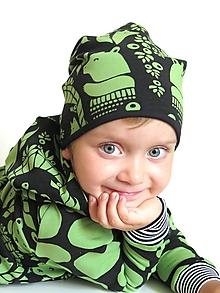 Detské čiapky - čiapka z biobavlny  V lesíku - 9853716_