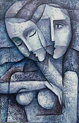 Obrazy - MILENCI, kubismus - 9853591_