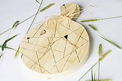 Pomôcky - Drevený lopár - Geometrický - 9851201_