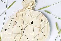 Pomôcky - Drevený lopár - Geometrický - 9851204_