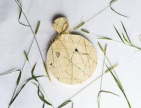 Pomôcky - Drevený lopár - Geometrický - 9851199_