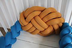Textil - Pletený vankúš Obláčik jednofarebný - 9854171_