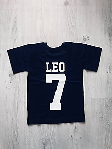 Detské oblečenie - Detské tričko s menom a číslom - 9853349_