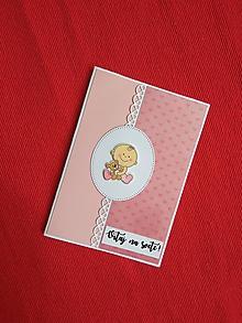 Papiernictvo - Pohľadnica k narodeniu dieťatka - 9852616_