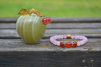 Sady šperkov - Karneol a kremeň sada - 9851771_