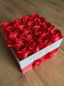 Dekorácie - Satin Roses Veľký box (Zlatá) - 9852844_