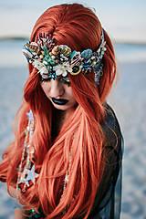 Ozdoby do vlasov - Koruna s hviezdičkami z kolekcie Mermaid dream - 9853775_