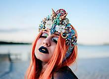 Ozdoby do vlasov - Koruna s hviezdičkami z kolekcie Mermaid dream - 9853777_