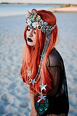 Ozdoby do vlasov - Koruna s hviezdičkami z kolekcie Mermaid dream - 9853779_