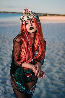 Ozdoby do vlasov - Koruna s hviezdičkami z kolekcie Mermaid dream - 9853772_