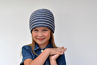 Detské čiapky - Špirálová pružná háčkovaná čiapka - 9851249_