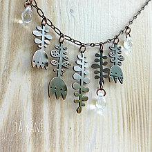 Náhrdelníky - Půjdu loukou - náhrdelník 86 - 9853394_