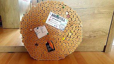 Tabuľky - Väčšia korková tabuľa na odkazy - 9851757_