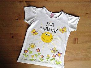 """Tričká - Mamkodcérovské maľované duo tričiek (Detské tričko s nápisom """"Som mamkine"""") - 9852189_"""