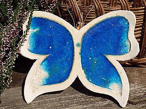 Socha - Motýlik (Modrá) - 9853122_