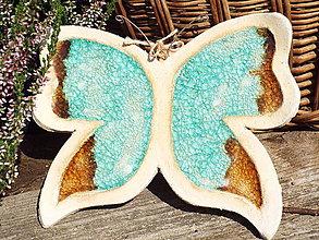 Socha - Motýlik (Modrá) - 9853190_