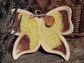 Socha - Motýlik (Žltá) - 9853211_
