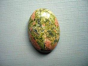 Minerály - Kabošon - unakit 26 mm, č.1f - 9851813_
