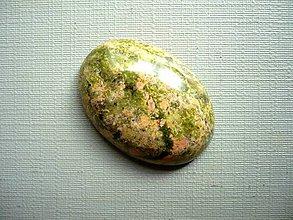 Minerály - Kabošon - unakit 26 mm, č.4f - 9852312_