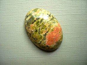 Minerály - Kabošon - unakit 26 mm, č.7f - 9852318_