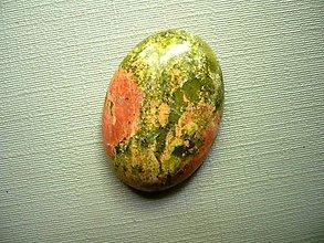Minerály - Kabošon - unakit 26 mm, č.8f - 9852328_