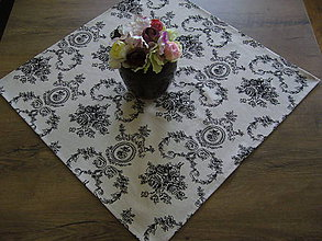 Úžitkový textil - Obrus ornamenty 54x54 - 9852627_