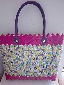 Veľké tašky - Fialovo farebná ecoistka...:) - 9852944_