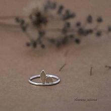 Prstene - minimalistický strieborný prsteň CUTE WILDNESS - zajačie uši - 9852780_
