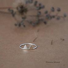 Prstene - minimalistický strieborný prsteň CUTE WILDNESS (líščie uši) - 9852792_