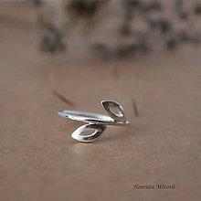 Prstene - minimalistický strieborný prsteň CUTE WILDNESS - listy - 9852802_