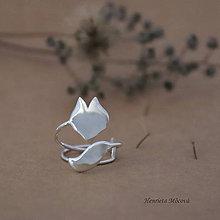 Prstene - strieborný prsteň CUTE WILDNESS - líška - 9852865_