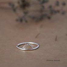 Prstene - minimalistický strieborný prsteň CUTE WILDNESS - ježko - 9852943_