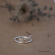 Prstene - minimalistický strieborný prsteň CUTE WILDNESS - líška mini - 9853047_