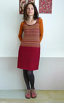 Šaty - šatová sukňa bordovo-hnedá - 9853096_