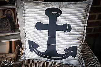 Úžitkový textil - Vankúšik námornícky No.3 - 9856915_