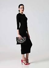 Šaty Midi čierne simple