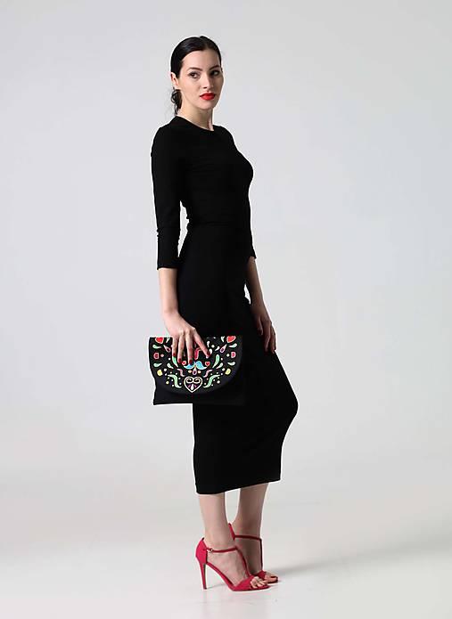 Šaty - Šaty Midi čierne simple - 9855009_