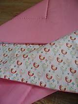 Bavlnená prešívaná deka - vtáčatká