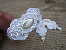 Náramky - Ivory/White - náramok...soutache - 9855512_