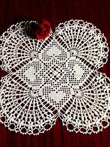 Úžitkový textil - Prestieranie-dečka srdiečková - 9857184_