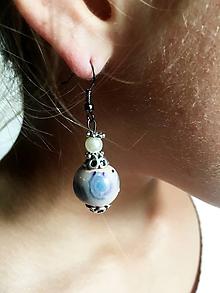Náušnice - fimové s perličkou - 9854502_